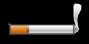 Stoppen met roken rokende sigaret