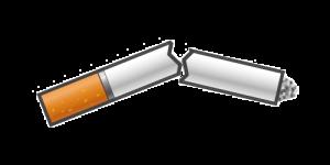 Stoppen met roken sigaret gebroken